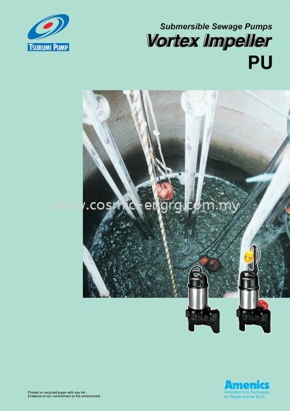 PU Series Tsurumi Submersible Pump Johor Bahru (JB), Malaysia, Singapore, Selangor, Kuala Lumpur (KL) Supplier, Suppliers, Supply, Supplies | Cosmic Engineering & Industrial Supply Sdn Bhd