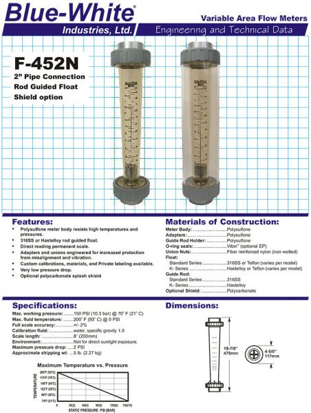 F-452N Blue White Flowmeter Johor Bahru (JB), Malaysia, Singapore, Selangor, Kuala Lumpur (KL) Supplier, Suppliers, Supply, Supplies | Cosmic Engineering & Industrial Supply Sdn Bhd
