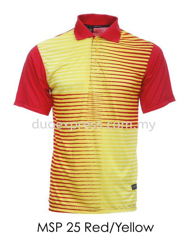 MSP 25 Red Yellow Collar T Shirt