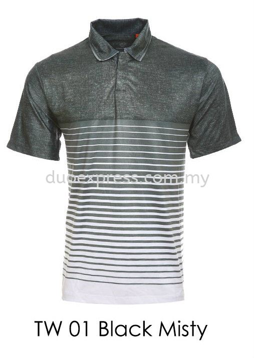 TW 01 Black Misty Golf T Shirt
