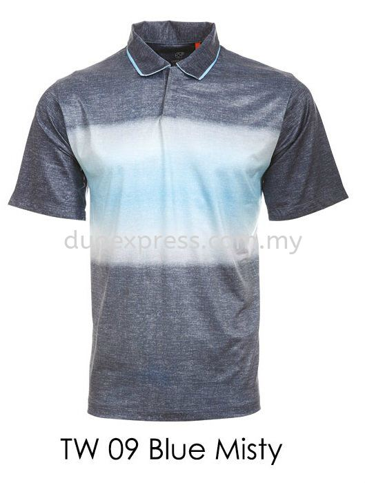 TW 09 Blue  Golf T Shirt