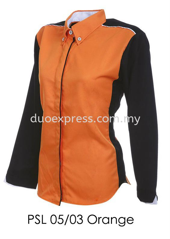 PSL 05 03 Orange Ladies Corporate Shirt