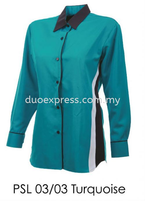 PSL 03 03 Turquoise Ladies Corporate Shirt