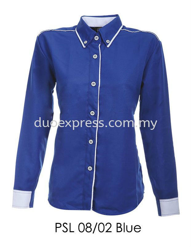 PSL 08 02 Blue Ladies Corporate Shirt