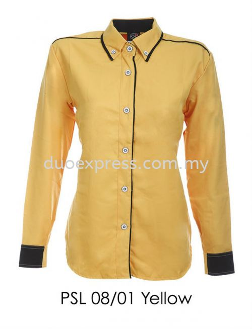 PSL 08 01 Yellow Ladies Corporate Shirt