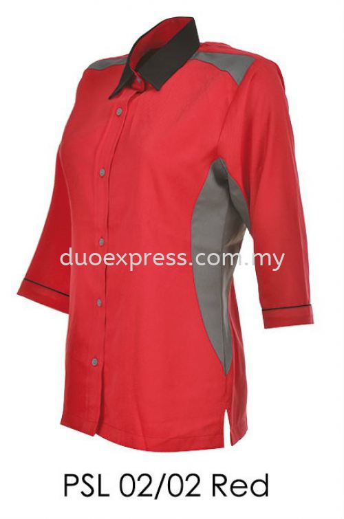 PSL 02 02 Red Ladies Corporate Shirt
