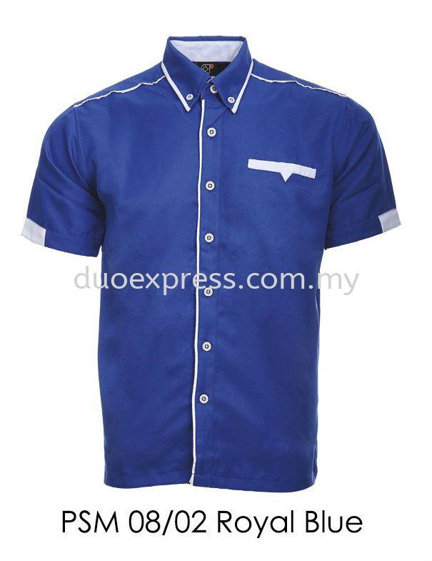 PSM 08 02 Royal Blue Unisex Corporate Shirt
