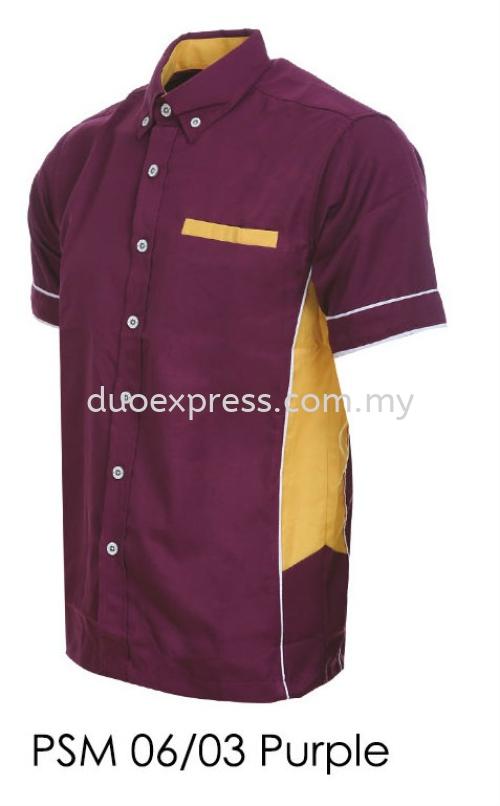 PSM 06 03 Purple Unisex Corporate Shirt