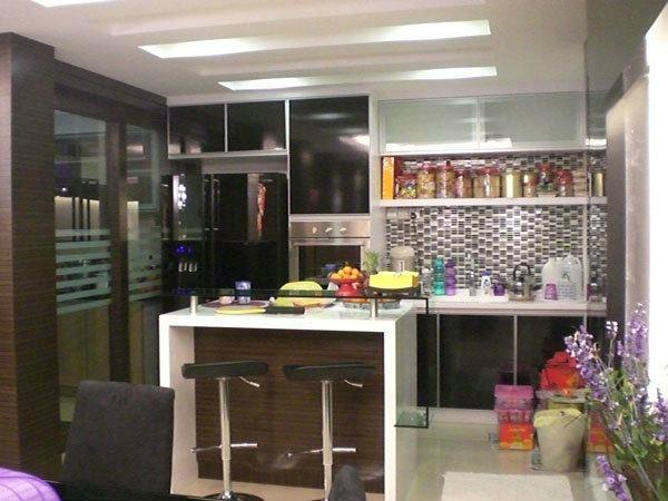 Condo Kitchen Design With Bar Table Kitchen Design Selangor, Kuala Lumpur (KL), Malaysia, Kajang Service | Xenn Interior Design
