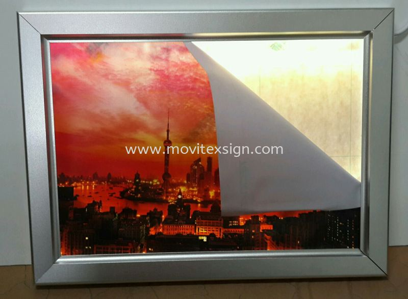 led poster frame jb/size A3 rm3h+ (click for more detail) Ready Stock for Sale Johor Bahru (JB), Johor, Malaysia. Design, Supplier, Manufacturers, Suppliers | M-Movitexsign Advertising Art & Print Sdn Bhd