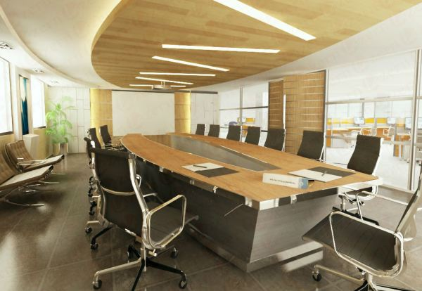Exclusive conference room table Conference Room Modern Interior Design for JiaCheng Engineering Office in Shanghai, China. Shah Alam, Selangor, Kuala Lumpur (KL), Malaysia Service, Interior Design, Construction, Renovation | Lazern Sdn Bhd