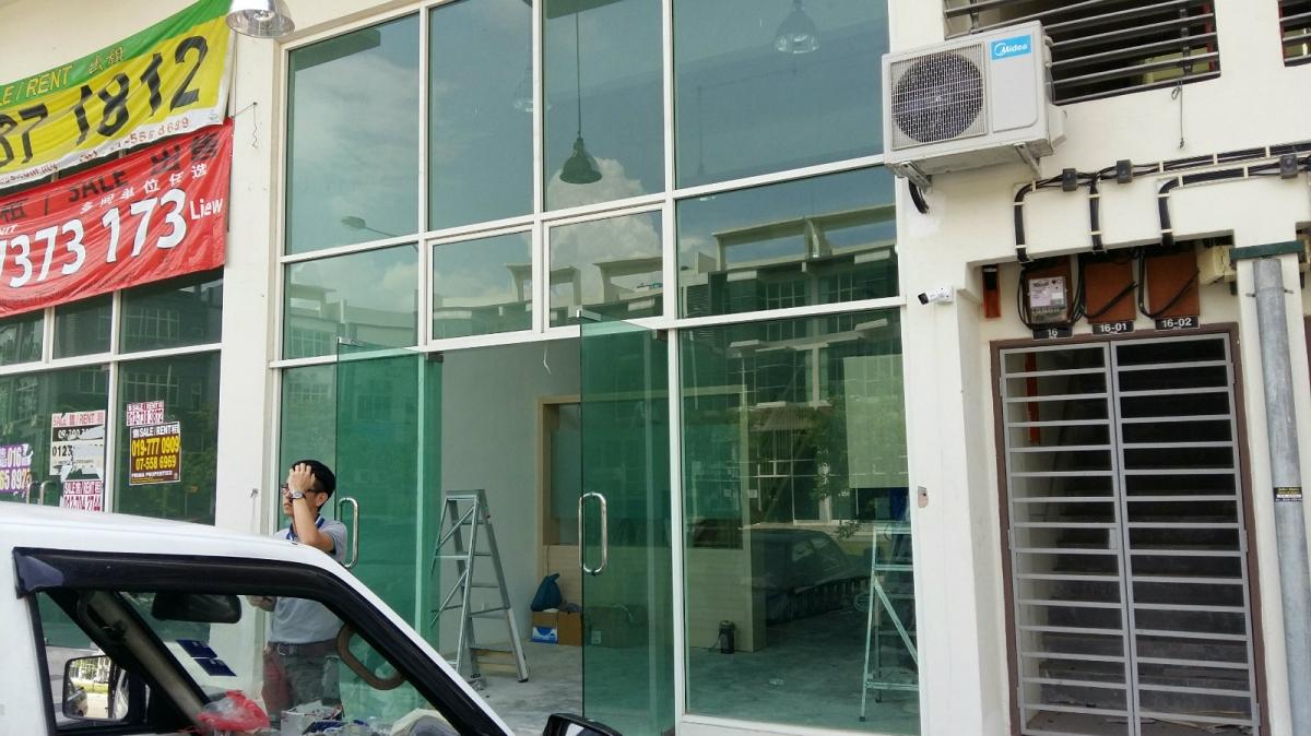 Shopfront Johor Bahru (JB), Johor, Selesa Jaya, Malaysia Service, Supplier, Supply, Installation | Lau Aluminium & Glass