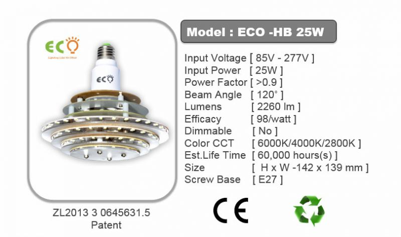 HB SERIES 25W LED HB BULB ECO HB SERIES Kluang, Johor, Malaysia Supplier Supply Manufacturer | ECO LED Lighting Solution
