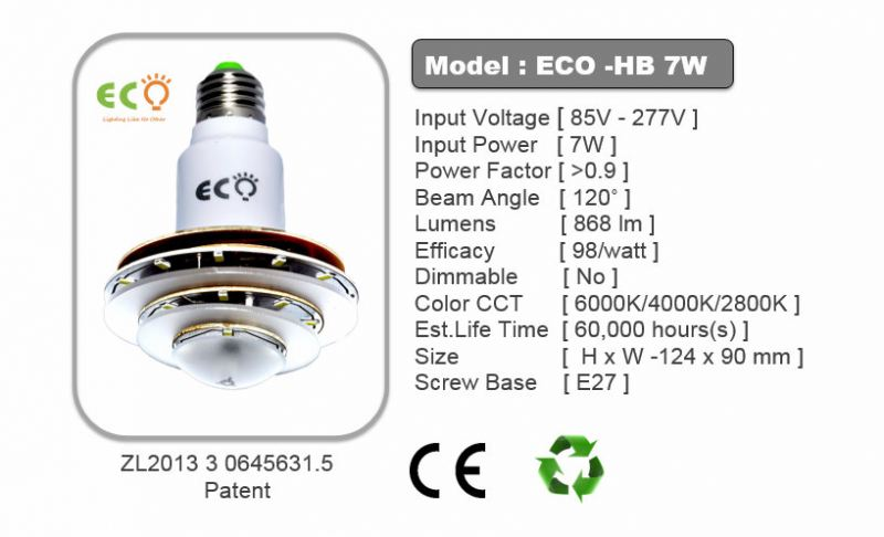 HB SERIES 7W LED HB BULB ECO HB SERIES Kluang, Johor, Malaysia Supplier Supply Manufacturer | ECO LED Lighting Solution