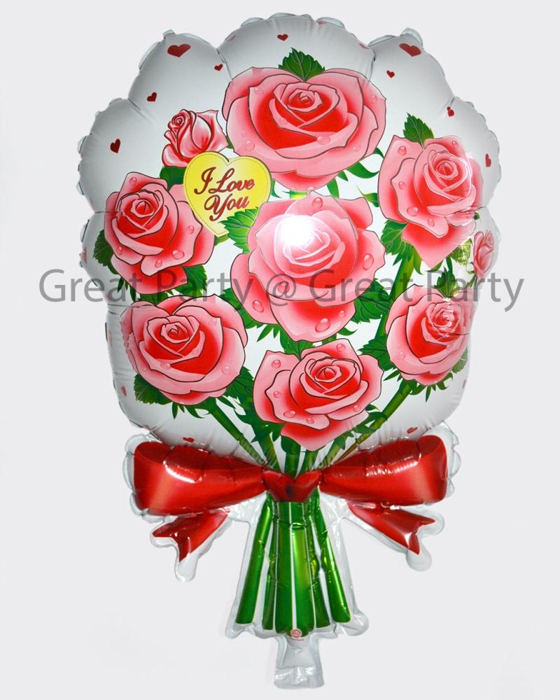 Flower Bucket Foil Balloon