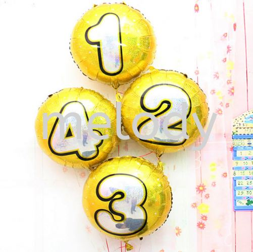 Foil Balloon 18 inch Round Number - 2116 0401