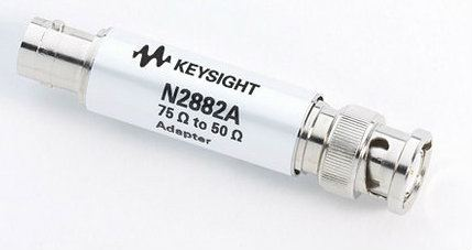 N2882A 75Ω to 50Ω BNC adapter