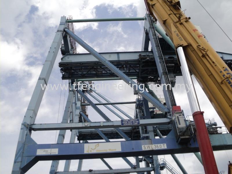 PTP Port Dismantled Quay Crane / Container Crane  Johor Bahru (JB), Malaysia, Selangor, Kuala Lumpur (KL), Shah Alam Supplier, Supply, Supplies, Service | TF Engineering Services Sdn Bhd