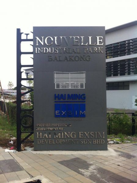 'Exsim Balakong' 3D Box Up Lettering  3D Box Up Lettering Selangor, Kuala Lumpur (KL), Klang, Malaysia Supplier, Supply, Manufacturer, Service | A One Advertising Sdn Bhd