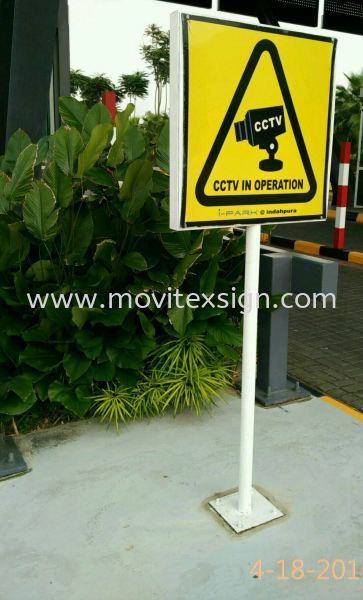 CCTV warning sign n general information Sign stand Signage to Show your Property are in top security controlled Outdoor Advertising Outdoor Sign Board 3D Johor Bahru (JB), Johor, Malaysia. Design, Supplier, Manufacturers, Suppliers | M-Movitexsign Advertising Art & Print Sdn Bhd
