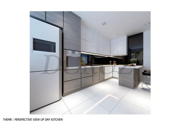 Kitchen Cabinet Design Johor Bahru (JB), Tampoi Indah, Malaysia Design, Renovation, Construction | Dcruz Interior Design Sdn Bhd