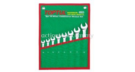 15 Offset Standard Combination Wrench Set (Pouch Bag - Green) Wrenches and Torque Wrenches TOPTUL Hand Tool Kuala Lumpur (KL), Selangor, Malaysia. Suppliers, Supplier, Supply, Distributor | Mee Huat (M) Sdn Bhd