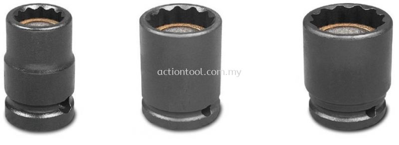 1/2¡¯¡¯ Dr.,¡®¡¯SAE¡¯¡¯ Standard Length Impact Socket With Magnetic (12-Point) 1/2 Inch Impact Socket ACTION Impact and Dual Socket Kuala Lumpur (KL), Selangor, Malaysia. Suppliers, Supplier, Supply, Distributor | Mee Huat (M) Sdn Bhd