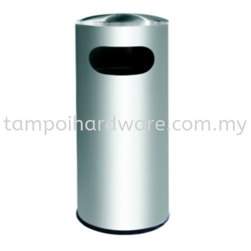 Stainless Steel Litter Bin complete with Dome Top   RAB001D Stainless Steel Rubbish Bin Hygiene and Cleaning Tools Johor Bahru (JB), Malaysia, Tampoi Supplier, Suppliers, Supply, Supplies   Tampoi Hardware Sdn Bhd