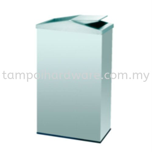 Stainless Steel Rectangular Flip Top Bin  RFT-056SS Stainless Steel Rubbish Bin Hygiene and Cleaning Tools Johor Bahru (JB), Malaysia, Tampoi Supplier, Suppliers, Supply, Supplies | Tampoi Hardware Sdn Bhd