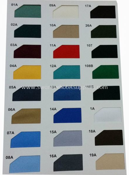 Colour: 01A to 19A Bed Skirting Johor Bahru (JB), Malaysia Supplier, Suppliers, Supply, Supplies | Swantex Hotel Supplies