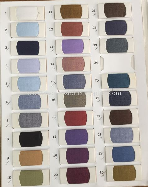 Colour: 1 to 30 We Are Selling Variety Uniform Cloth Johor Bahru (JB), Malaysia Supplier, Suppliers, Supply, Supplies | Swantex Hotel Supplies