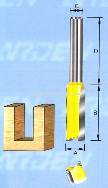 Two Flutes 1/4'' Shank Straight Bits ARDEN Router Bits and Shaper Cutters Kuala Lumpur (KL), Selangor, Malaysia. Suppliers, Supplier, Supply, Distributor   Mee Huat (M) Sdn Bhd