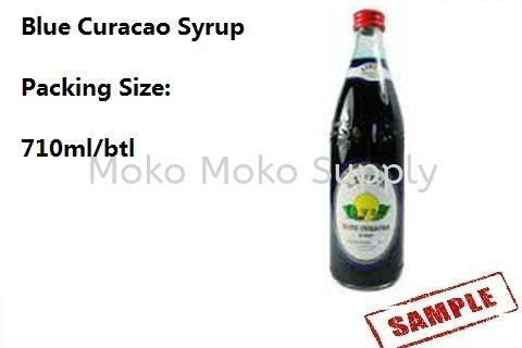 Blue Curacao Syrup Syrup and Sauce Ingredient Penang, Malaysia, Raja Uda Supplier, Suppliers, Supply, Supplies | Moko Moko Supply