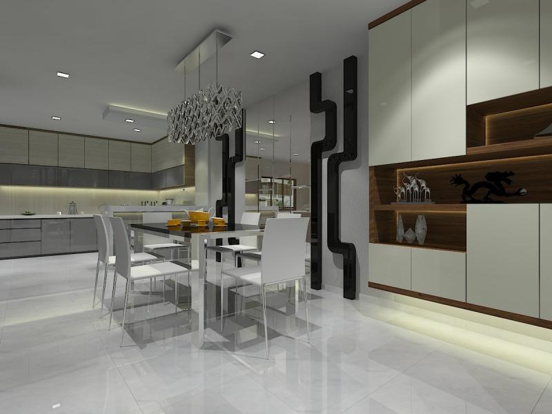 Dining Area Dining Area Design Kangkar Pulai, Johor Bahru(JB), Skudai Design, Renovation   Leo Design Sdn Bhd