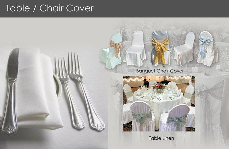 Table&Chair Cover Hospitality Penang, Malaysia, Butterworth Manufacturer, Supplier, Supply, Supplies | Hoyta Sdn Bhd