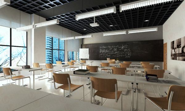 Classroom with Industrial design Modern Industrial interior design proposed to College & University in Subang, Malaysia. Shah Alam, Selangor, Kuala Lumpur (KL), Malaysia Service, Interior Design, Construction, Renovation | Lazern Sdn Bhd