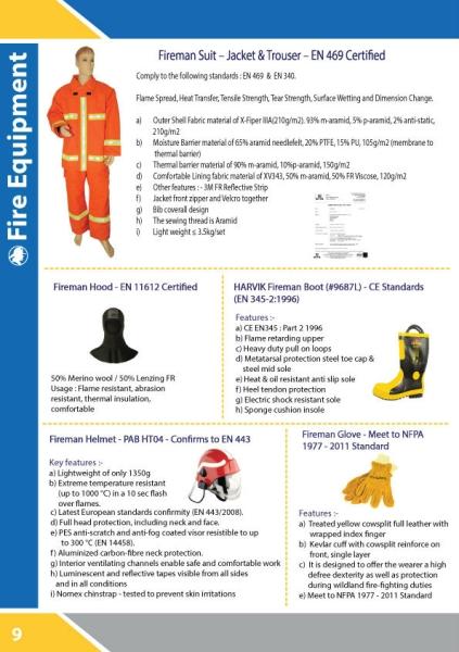 FIRE SUIT - JACKET & TROUSER - EN 469 CERTIFIED Uniform Kuala Lumpur, KL, Malaysia Supply Supplier Supplies | Sama Maju Marine & Industry Sdn Bhd