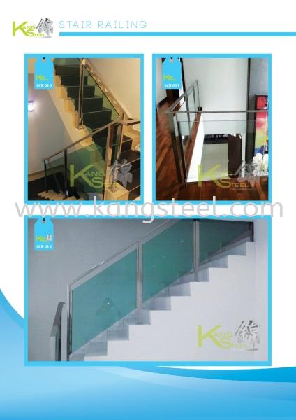 SCR010&SCR011&SCR012 Staircase Railing Johor Bahru, JB, Skudai Design, Installation, Supply | Kang Steel Engineering Sdn Bhd