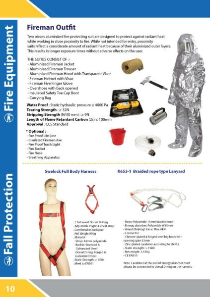 FIREMAN OUTFIT Uniform Kuala Lumpur, KL, Malaysia Supply Supplier Supplies | Sama Maju Marine & Industry Sdn Bhd