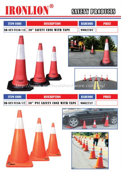 Safety Cone with Tape Safety Cone Safety Products Johor Bahru (JB), Malaysia Supplier, Suppliers, Supply, Supplies   SOUTH ASIA HARDWARE & MACHINERY SDN BHD