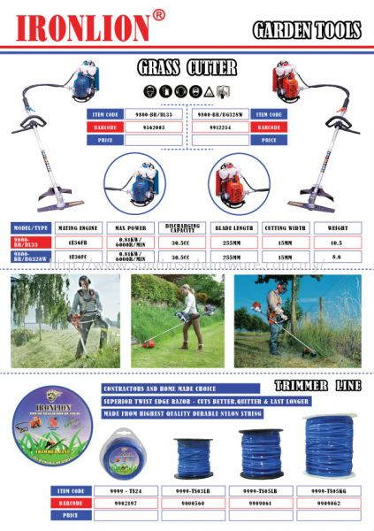 Grass Cutter & Trimmer Line Grass Tools Johor Bahru (JB), Malaysia Supplier, Suppliers, Supply, Supplies | SOUTH ASIA HARDWARE & MACHINERY SDN BHD
