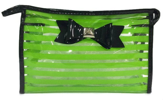 Ribbon See Through Makeup Pouch (Green) Toiletries And Cosmetics Bags Organizers  Selangor, Kuala Lumpur (KL), Puchong, Malaysia Supplier, Suppliers, Supply, Supplies | Yona Fashion & Design Sdn Bhd