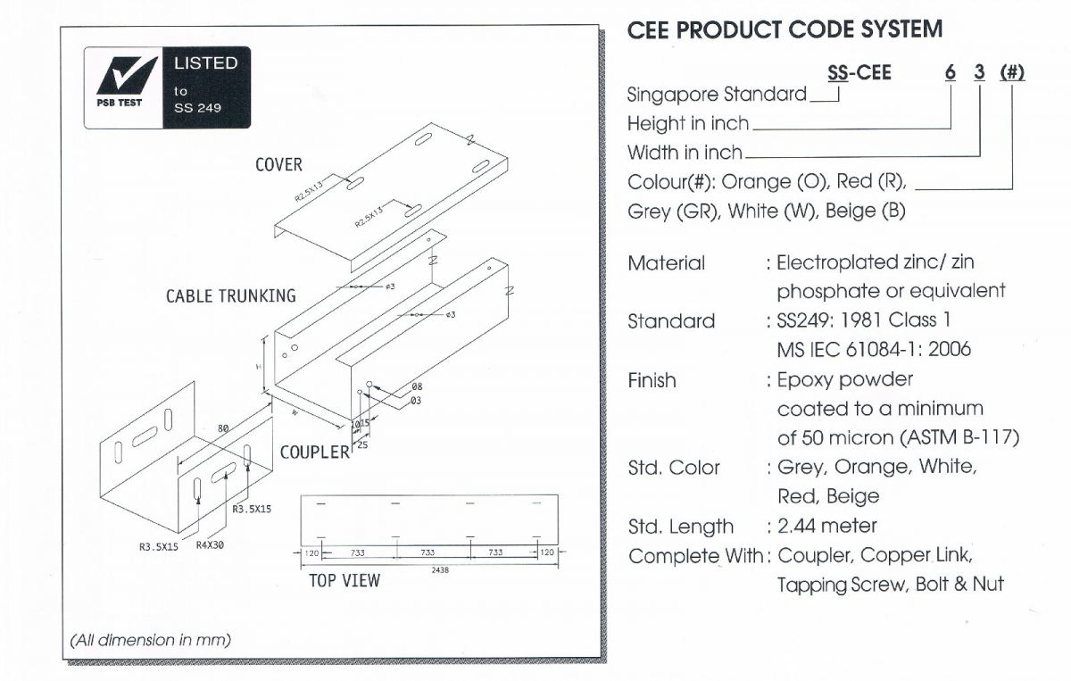 COMPLIED STEEL SURFACE CABLE TRUNKING Cable Trunking Cable Support Systems Johor Bahru (JB), Johor, Ulu Tiram, Malaysia Supplier, Suppliers, Supply, Supplies | Intech Electric Sdn Bhd