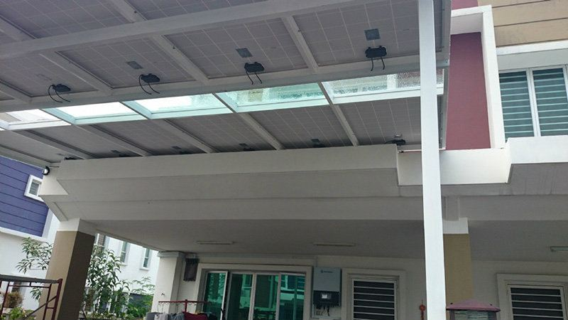 Solar Canopy 6m x 3.5m, 3000W Normal 1.6m Panel Solar Canopy Selangor, Malaysia, Kuala Lumpur (KL), Puchong Project, Supplier, Supply, System | Amsolar Sdn Bhd