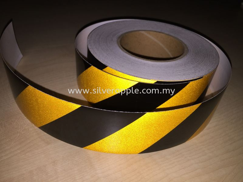 Black & Yellow Reflective Hazard Stripes Warning Hazard Stripes Reflective Petaling Jaya (PJ), Selangor, Kuala Lumpur (KL), Malaysia. Supplier, Suppliers, Supplies, Supply | Silverapple Trading