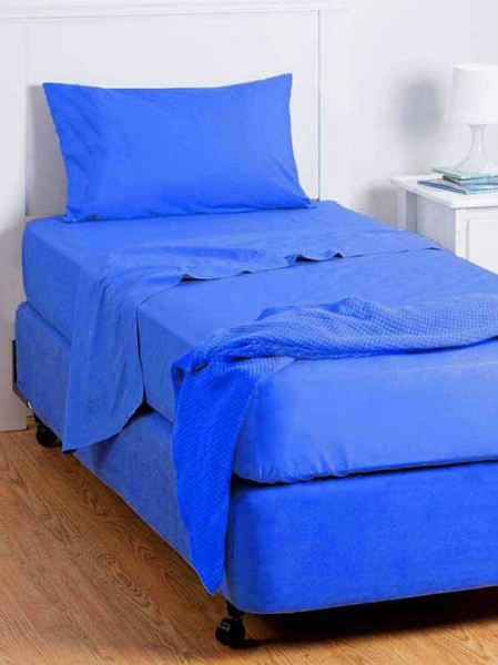 Ck Hostel Type Single Bedsheet Set (Blue) Single Bedsheets Bed Sheets/Mattresses Selangor, Malaysia, Kuala Lumpur (KL), Klang Supplier, Suppliers, Supply, Supplies | MK Curtain Group