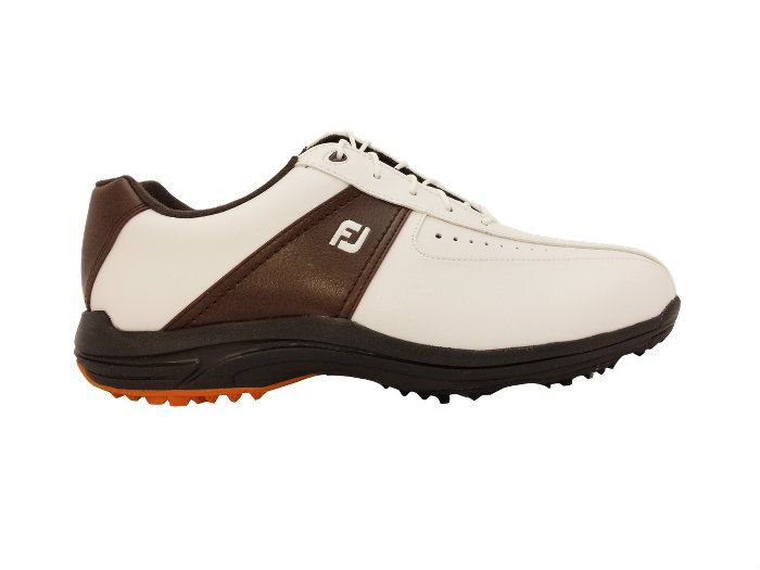 GreenJoys White Earth Spiked Golf Shoes