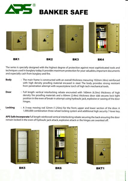 Banker Safe Series   Banker Series Safety Box SECURITY BOX/ SAFETY BOX Malaysia, Selangor, Kuala Lumpur (KL), Puchong Supplier, Suppliers, Supply, Supplies | NSY Office System