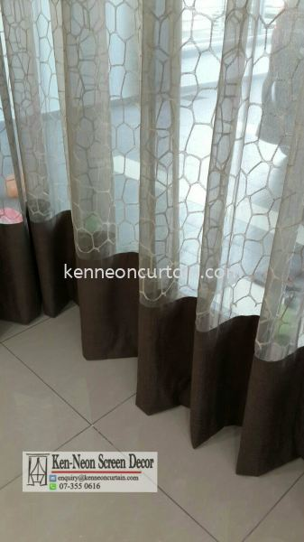 Day Curtains Design  Johor Bahru (JB), Malaysia, Taman Molek Supplier, Installation, Supply, Supplies | Ken-Neon Screen Decor