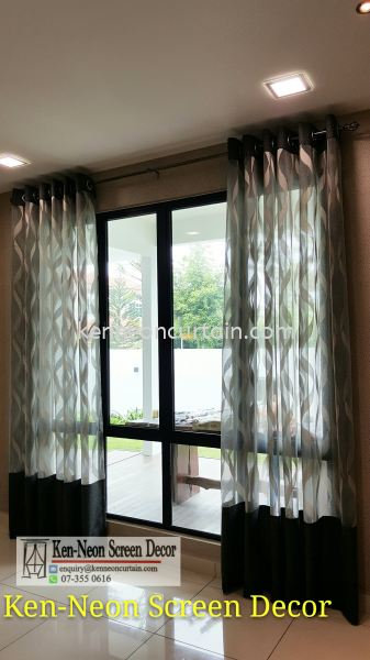 Eyelets Curtain Design  Johor Bahru (JB), Malaysia, Taman Molek Supplier, Installation, Supply, Supplies | Ken-Neon Screen Decor